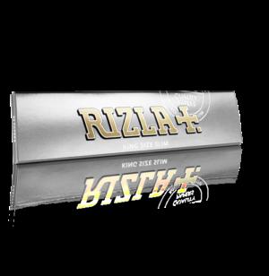 Silver Rizla kingsize slim cigarette paper